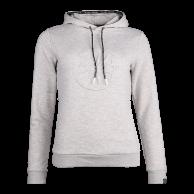 Women Hooded Sweat Emboss - grey