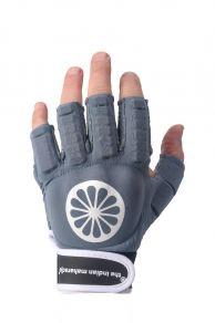 Glove shell half finger [left] - denim