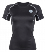 Women First Layer Compression Tee - black