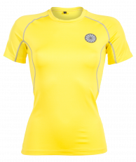 Women First Layer Compression Tee - yellow