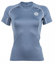 Women First Layer Compression Tee - steel blue