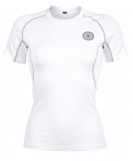 Women First Layer Compression Tee - white